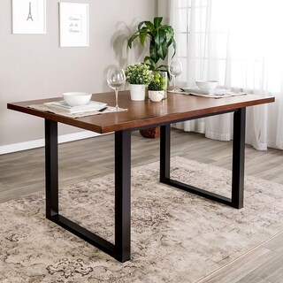 "60"" Two-Tone Wood Dining Table - 60 x 36 x 30h"
