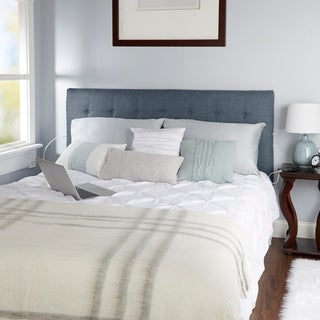 Audrey Tufted Powered Headboard, Queen (3 options available)