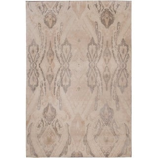 Handknotted Designer Wool and bamboo NP - Nepal Rug (6'2'' x 8'10'') - 6'2'' x 8'10''
