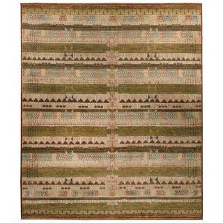 Handknotted Designer Wool Nandini Rug (8' x 9'7'') - 8' x 9'7''