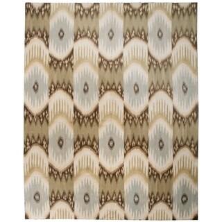 Wool and Silk Kelim Rug (7'11'' x 9'11'') - 7'11'' x 9'11''