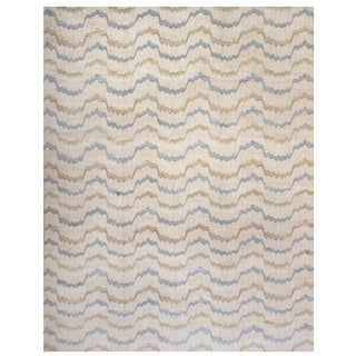 Handknotted Designer Wool Contemporary Rug (10'2'' x 13'5'') - 10'2'' x 13'5''