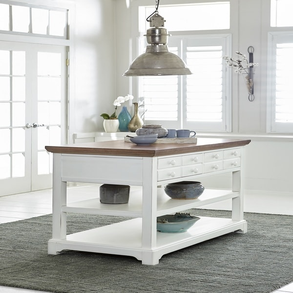 Shutters White Kitchen Island