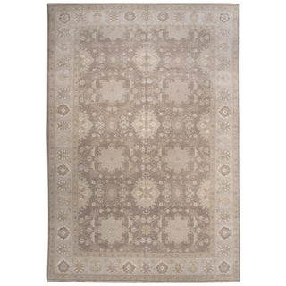 Wool and Silk Tabriz Rug - 9'9'' x 14'