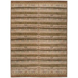 Handknotted Designer Wool Nandini Rug (9' x 12'1'') - 9' x 12'1''