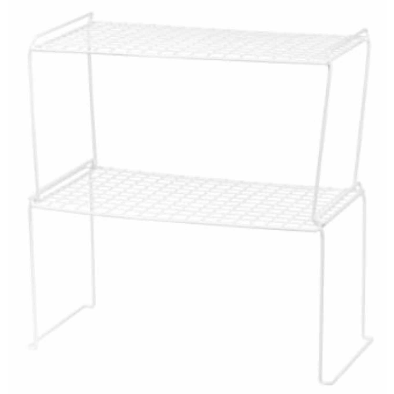 IRIS White Heavy-duty Wire Stacking Shelves (Set of 6) (S...