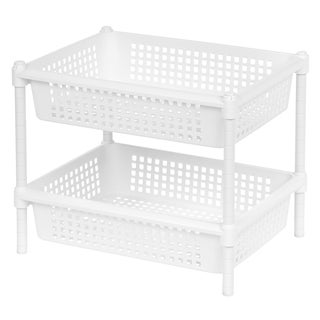Iris White Plastic Large 2-tier Multipurpose Rack