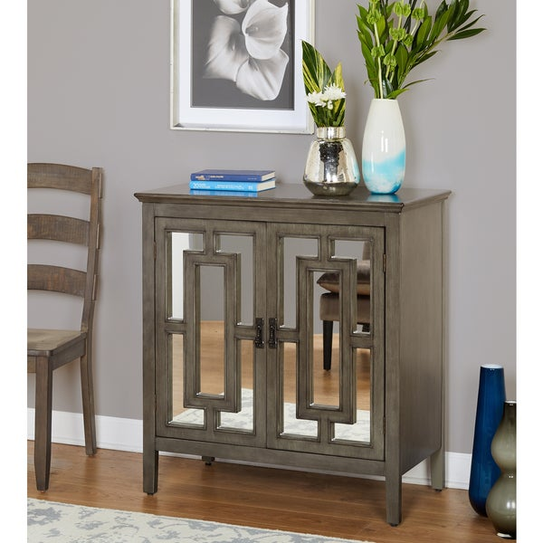 Simple Living Devon Mirrored Cabinet Free Shipping Today