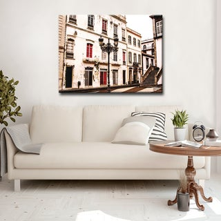 Ready2HangArt 'Fade Out Lines' Canvas Art Print