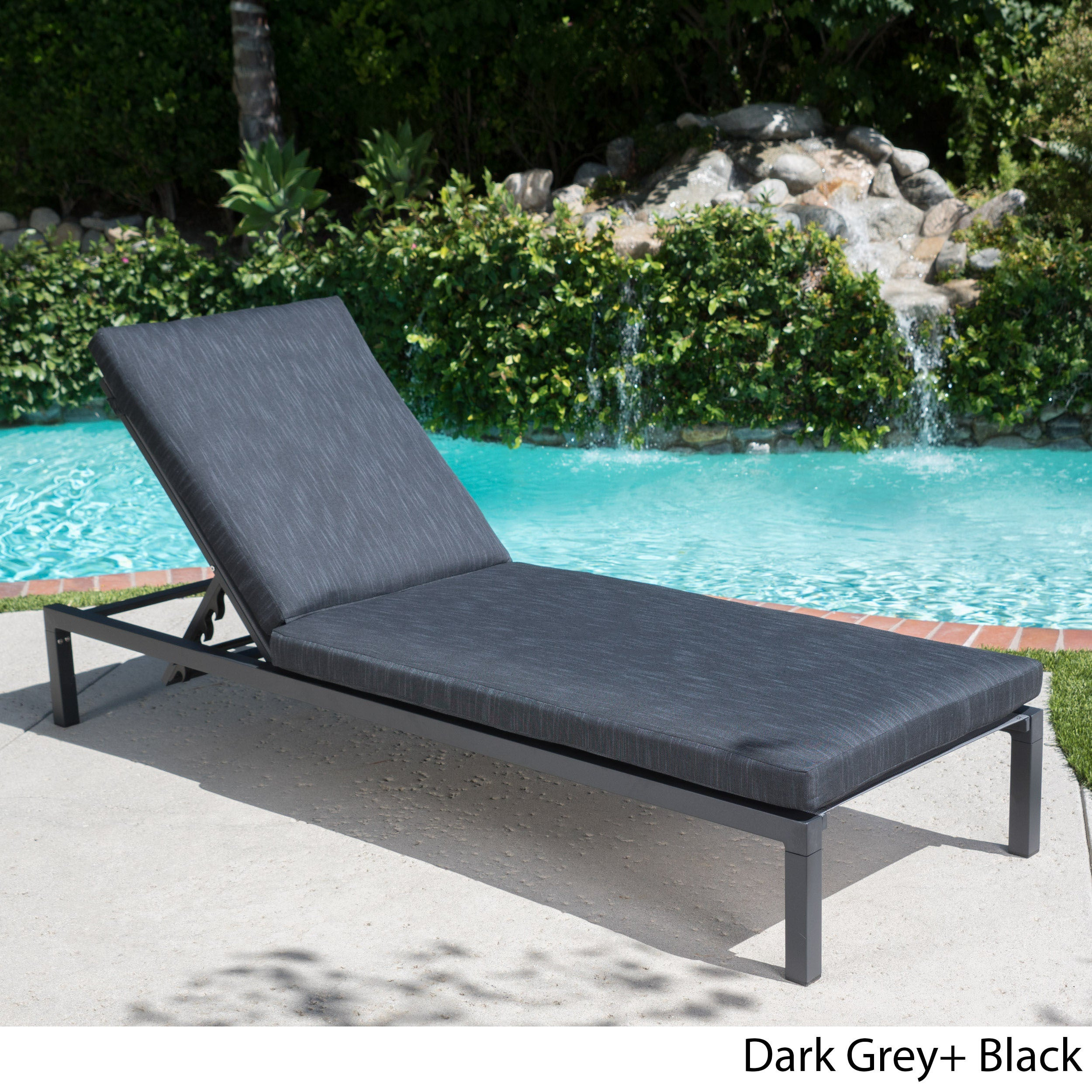 - Shop Navan Outdoor Aluminum Chaise Lounge With Cushion By