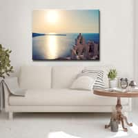 Ready2HangArt 'Blue Crystal Glow' Canvas Art Print