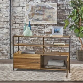 Flossie Acacia Wood Rustic Cabinet by Christopher Knight Home