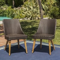 Delphi Outdoor Wicker Dining Chair (Set of 2) by Christopher Knight Home
