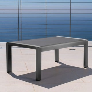 Cape Coral Outdoor Aluminum Rectangle Coffee Table by Christopher Knight Home