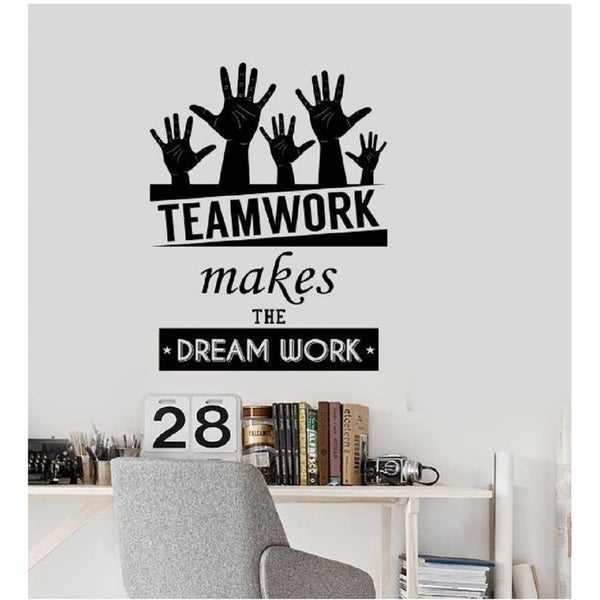 Shop Office Inspirational Words Wall Decal Teamwork Makes The Dream Classy Inspirational Words
