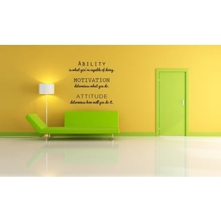 Attitude In What You're Capable of Doing Wall Vinyl