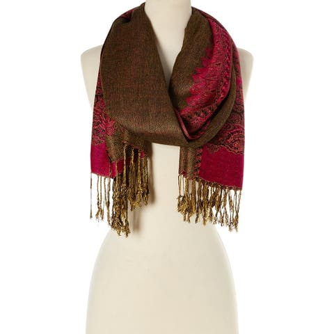 Stylish and Fashionable High Class Women's Scarf and Pashmina (Coffee with Magento)  - Large