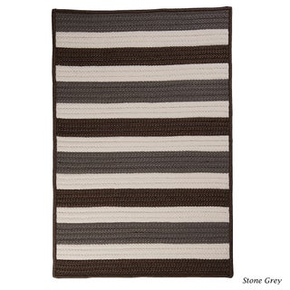 Indoor/Outdoor Braided Texture Stripe Rug (8' x 11')