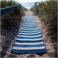 Indoor/Outdoor Braided Texture Stripe Rug (4' x 6')