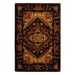Safavieh Handmade Heritage Traditional Heriz Red/ Navy Wool Rug (2' x 3')
