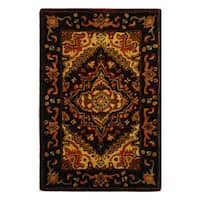Safavieh Handmade Heritage Traditional Heriz Red/ Navy Wool Rug - 2' x 3'