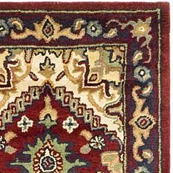 Safavieh Handmade Heritage Traditional Heriz Red/ Navy Wool Runner (2'3 x 8') - Thumbnail 2