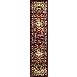 Safavieh Handmade Heritage Traditional Heriz Red/ Navy Wool Runner (2'3 x 8')