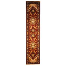 Safavieh Handmade Heritage Traditional Heriz Red/ Navy Wool Runner Rug - 2'3 x 10' - Thumbnail 0