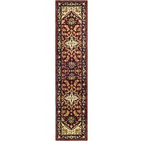 Safavieh Handmade Heritage Traditional Heriz Red/ Navy Wool Runner Rug - 2'3 x 12'