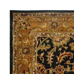 Safavieh Handmade Heritage Traditional Kashan Dark Green/ Gold Wool Rug (8' x 10')