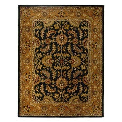 Safavieh Handmade Heritage Traditional Kashan Dark Green/ Gold Wool Rug - 8' x 10' - Thumbnail 0