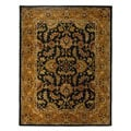 Safavieh Handmade Heritage Traditional Kashan Dark Green/ Gold Wool Rug - 8' x 10'