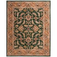 Safavieh Handmade Heritage Traditional Kashan Dark Green/ Gold Wool Rug - 8' x 10'