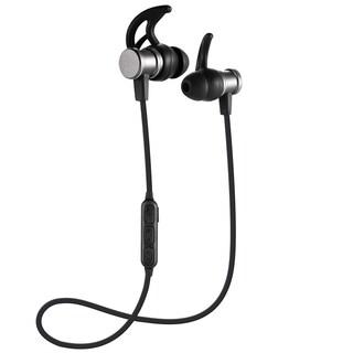 Bass-heavy Sport Bluetooth V4.1 Headphone In-ear Stereo Ear Buds With Ear Hooks Magnetic Headset (Option: Grey)