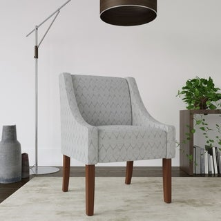 HomePop Modern Swoop Accent Chair (4 Options Available)