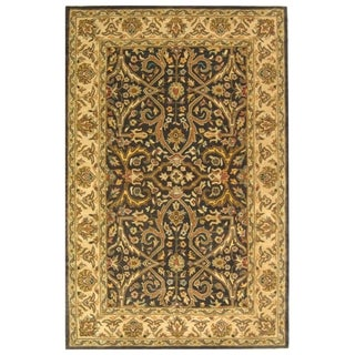 Safavieh Handmade Heritage Timeless Traditional Charcoal Grey/ Ivory Wool Rug (5' x 8')