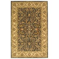 Safavieh Handmade Heritage Timeless Traditional Charcoal Grey/ Ivory Wool Rug - 6' x 9'