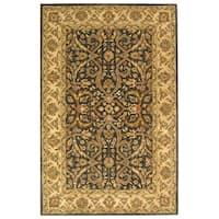 Safavieh Handmade Heritage Timeless Traditional Charcoal Grey/ Ivory Wool Rug - 8' x 10'