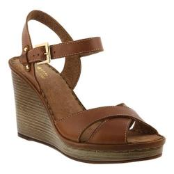 Women's Spring Step Idyllie Quarter Strap Sandal Brown Leather