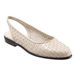 Women's Trotters Lucy Woven Slingback Bone Leather