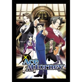 Ace Attorney Key Art Poster With Choice of Frame (24x36)