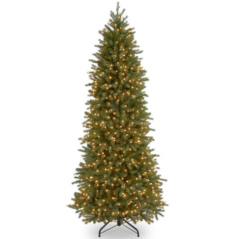 9 ft. Jersey Fraser Fir Pencil Slim Tree with Clear Lights