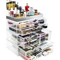 Sorbus Acrylic Makeup and Jewelry Storage Case Display