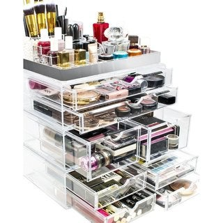 Sorbus Acrylic Makeup and Jewelry Storage Case Display