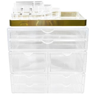 Sorbus Acrylic Makeup and Jewelry Storage Case Display (Option: X-Large)