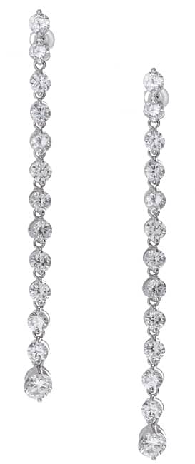 Icz Stonez Sterling Silver CZ Drop Earrings