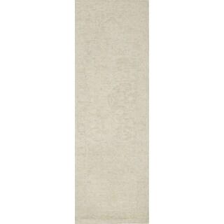 Alexander Home Opal Bone Wool Hand-hooked Runner Rug (2'6 x 7'6)