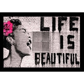 Banksy - Life is Beautiful Poster With Choice of Frame (24x36)