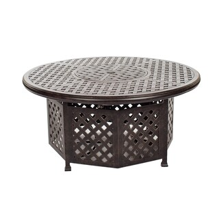 Yorkshire Powder-coated Aluminum 52-inch Chat-height Gas Firepit Table with Doors