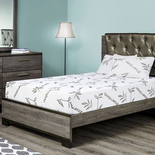 Fortnight Bedding 6-inch King-size Gel Memory Foam Mattress with Rayon From Bamboo Cover